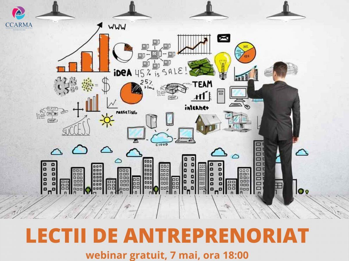 Webinar – Lectii de antreprenoriat (7 mai)