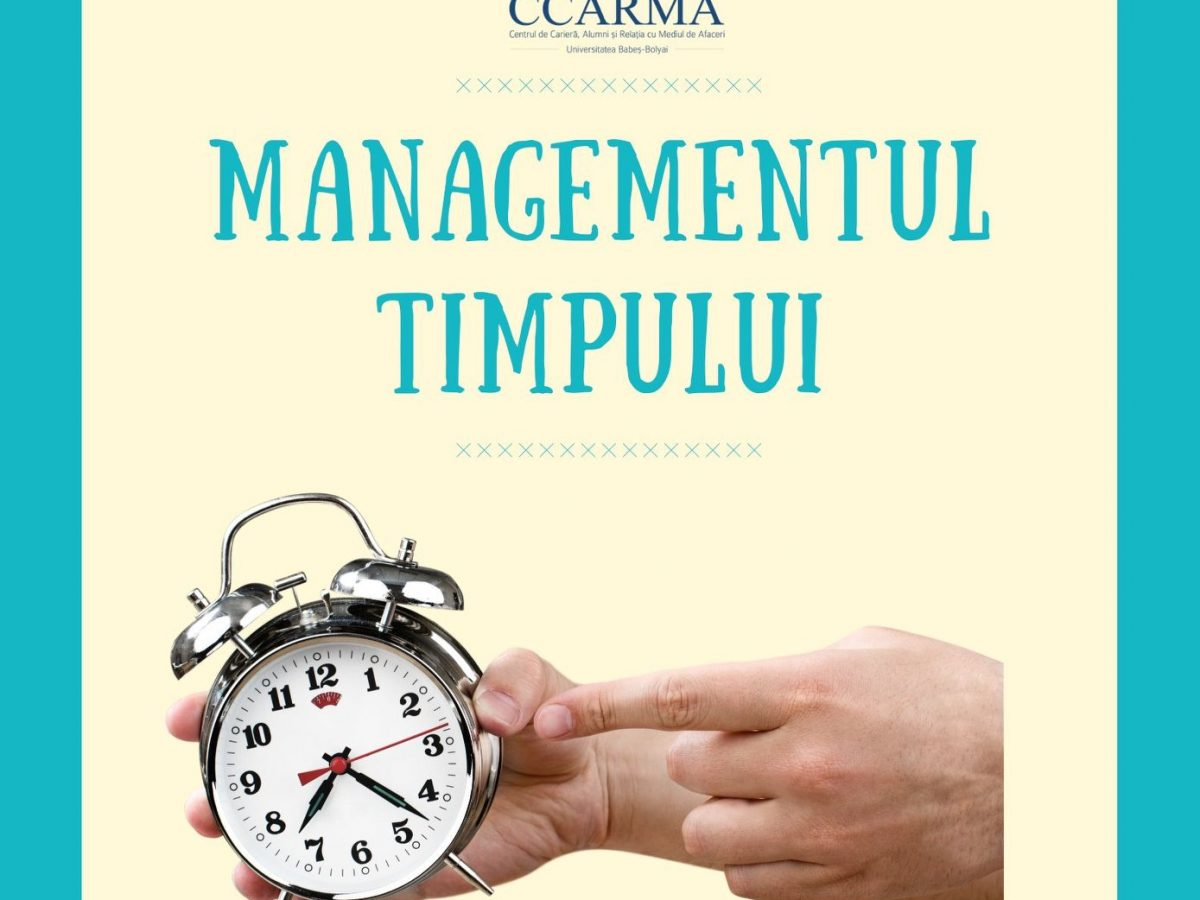 Webinar – Managementul timpului (16 aprilie)