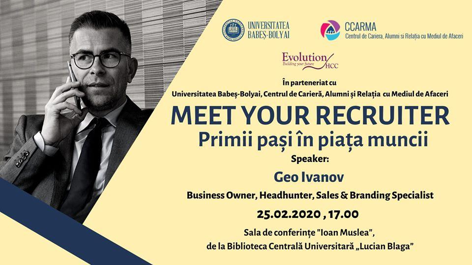 Webinar – Meet your recruiter (25 februarie)