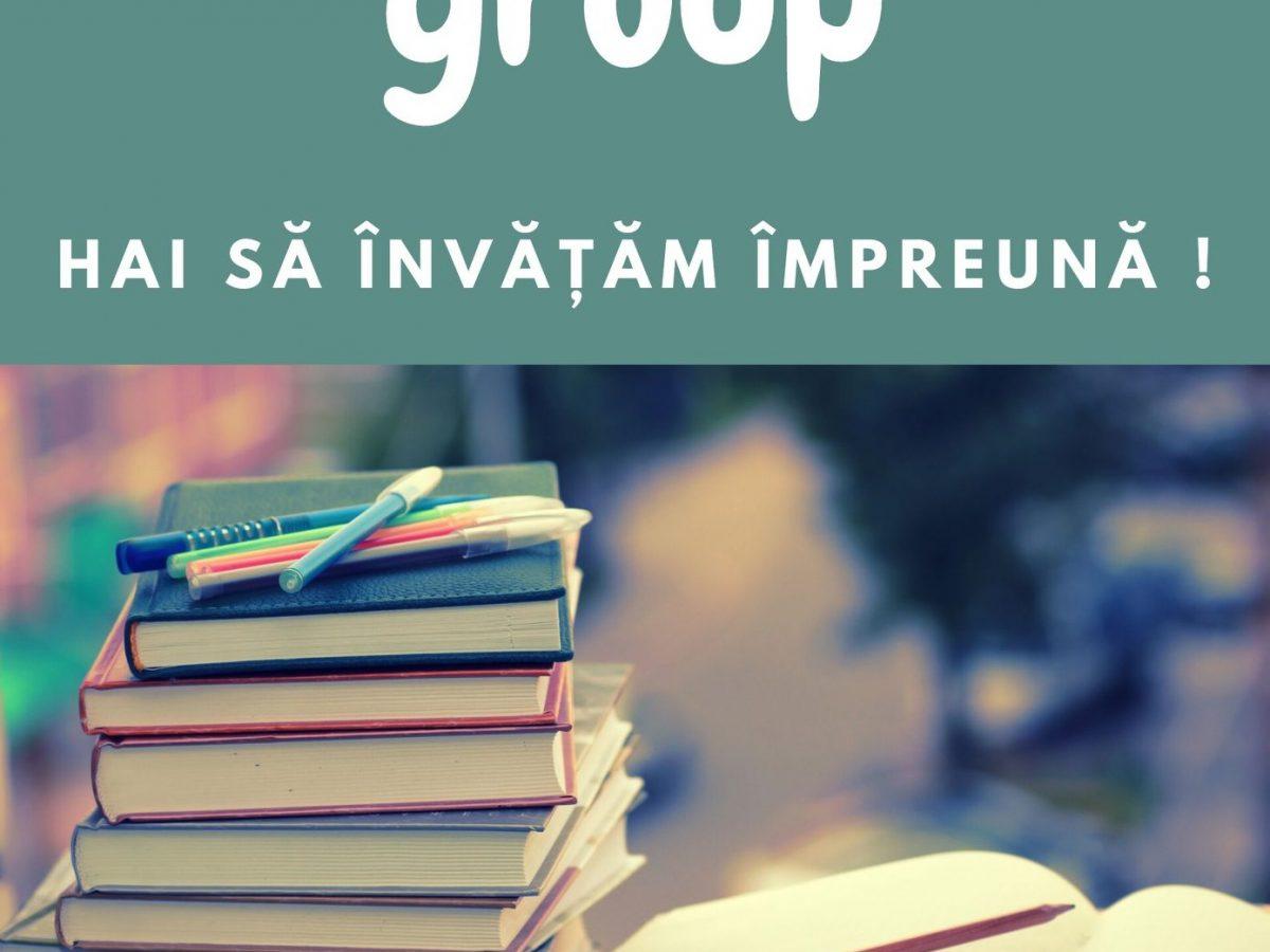 Study group – Hai să învățăm împreună! (18 mai)